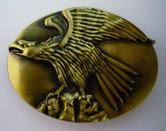 #5 Standing Eagle Buckle