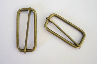 51mm  Wire Adjustable Slide, Antique Brass finish