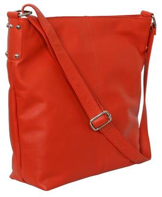AHB95 - ROSIE LEATHER HANDBAG - ORANGE