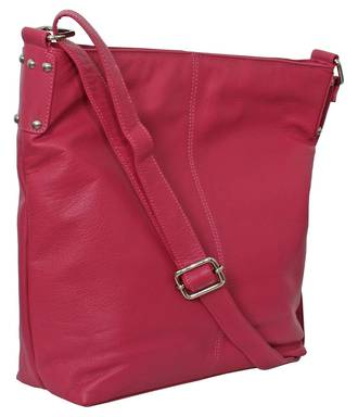 AHB95 - ROSIE LEATHER HANDBAG - PINK