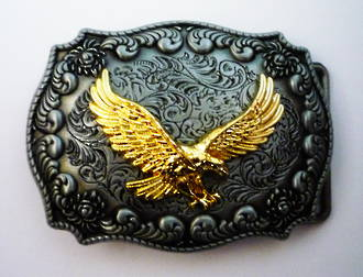 2013F Flying Eagle Buckle - Pewter
