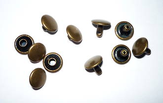 H810-6mm SOLID BRASS Double Cap Rivet Set