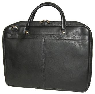 MB255 - LEATHER LAPTOP CASE -  BLACK