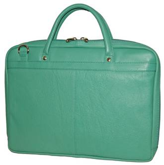MB255 LEATHER LAPTOP CASE - AQUA