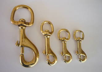 SOLID BRASS TRIGGER SNAP HOOKS