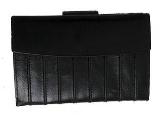 WL540 LADIES RIDGED WALLET  - BLACK