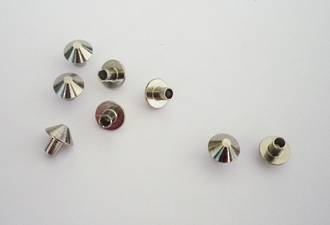 F2502 Pyramid TUBE Stud, Nickel - 100pcs. /pack