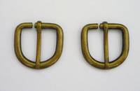 D-Shape Buckle, Antique Brass  20mm