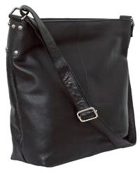 AHB95 - ROSIE LEATHER HANDBAG - BLACK