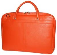 MB255 - LEATHER LAPTOP CASE -  ORANGE