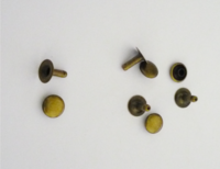 810-9mm  SOLID BRASS  Single cap Rivet Set,  Antique Brass