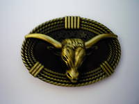 #6 Large Bull Head Buckle