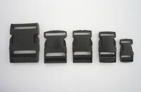 Side Release Buckle Black Plastic